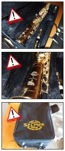 Faux Saxophone Soprano Selmer Super Action 80 II